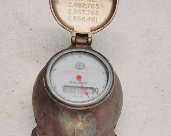 Vintage Brass Rockwell Water Meter