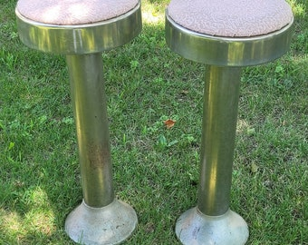 Vintage Set of 2 Fountain Stools - Pick Up Only