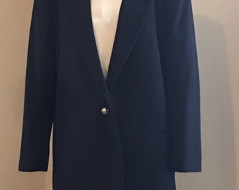Vintage Woman's Sag Harbor Navy Wool Suit Jacket