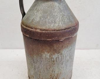 Vintage Brookside Metal Milk Can