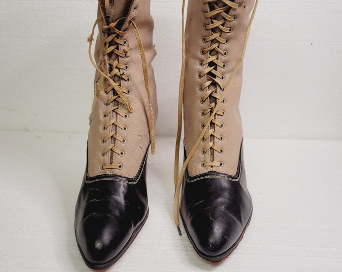 Featured listing image: Antique Lace Up Woman's Boots