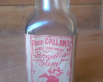 Antique Prof. Callans Brazilian Gum Bottle 1800's