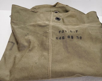 Vintage Military Army Canvas Duffle Bag