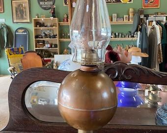 Antique Copper & Brass Oil Lamp