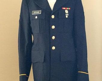 U.S. Army 2001 Woman's Dress Wool Dress Coat  Rank E 4 Specialist with Marksman Metal