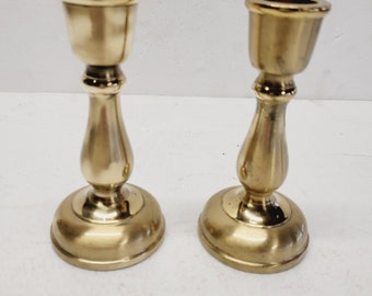 Vintage Pair of Beautiful Brass Candle Holder (2)
