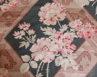 Vintage French floral furnishing fabric, superb.