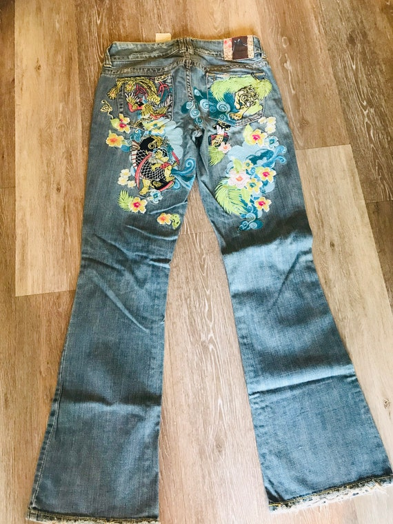 Vintage Marlow Jeans Embroidered Jeans 28 Waist Sz