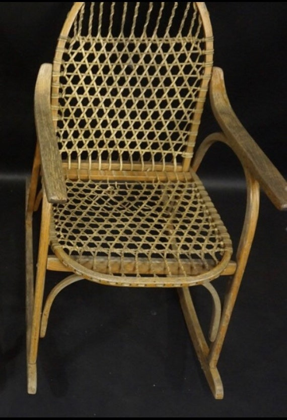 Tremendous Vermont Tubbs Snowshoe Rocking Chair Vintage Rocking Chair Photography Prop Ski Resort Furniture Restaurant Or Bar Chair Rustic Home Decor Ibusinesslaw Wood Chair Design Ideas Ibusinesslaworg