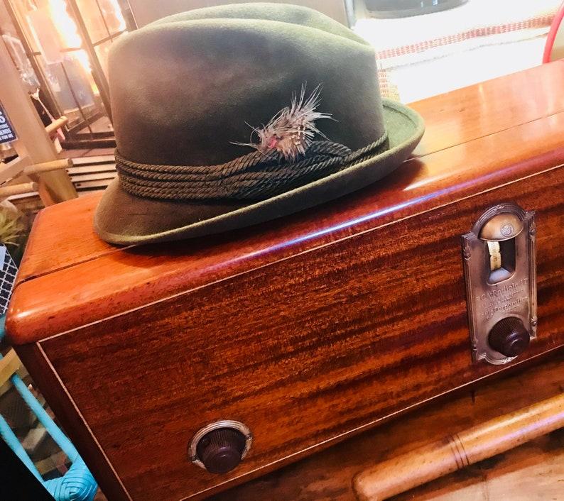 Vintage Rosolling Italian Fedora Beaver Blend Mens Hat with  88a75c611f2