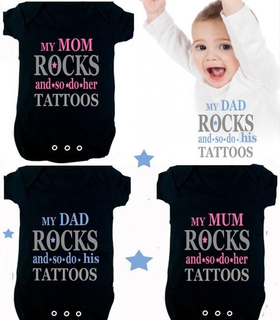 Tattoo Mom Dad I Love My Big Brother Sister 1x Bodysuit Or 1x Etsy