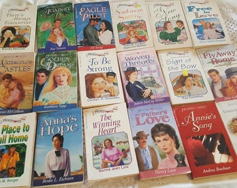 Vintage Lot of 40 HeartSong Presents Inspirational Romance Paperback Novels