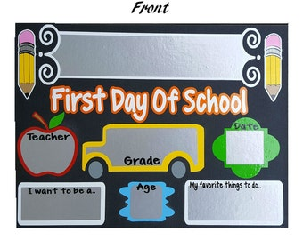 First Day Sign Etsy