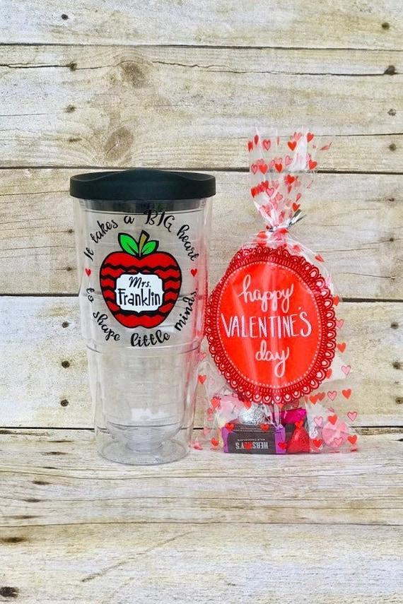 Valentines Day Gift For Teacher Teacher Tumbler Teacher Etsy