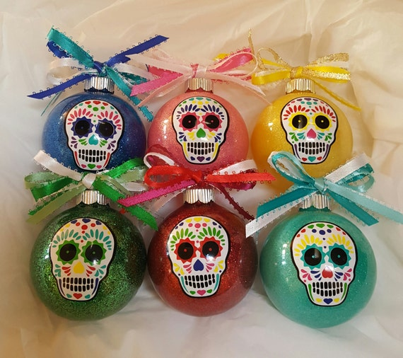 image 0 - Sugar Skull Christmas Ornaments Day Of The Dead Sugar Skull Etsy