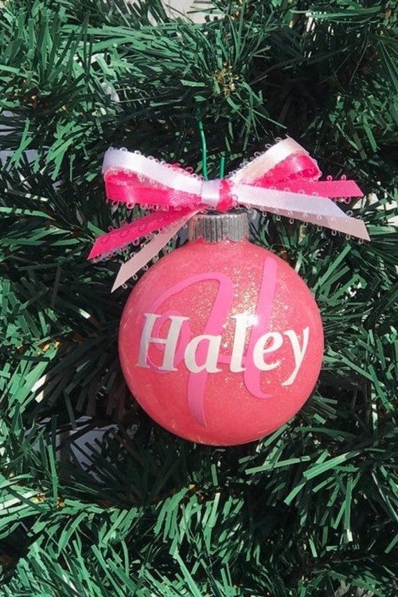 Personalized Christmas Decor.Custom Ornament Personalized Christmas Ornaments Christmas Decor Monogram Ornament Personalize Ornament Glitter Ornament