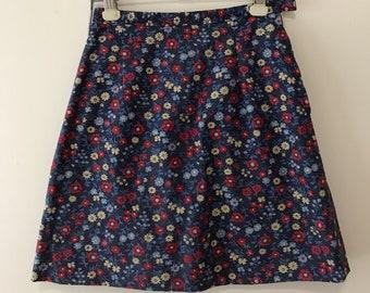 70's Cotton Mini-Skirt