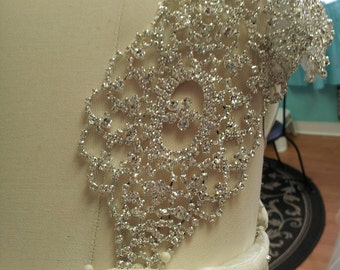 CAP SLEEVE SET in Crystal and Rhinestone