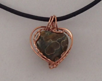 Necklace, Ocean Jasper, and Copper