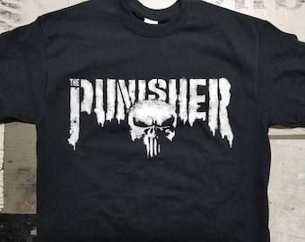 b80a589e3 New Punisher skull Tshirt 2017 2018 logo design netflix season 1 daredevil  2 tv show marvel comics bernthal castle