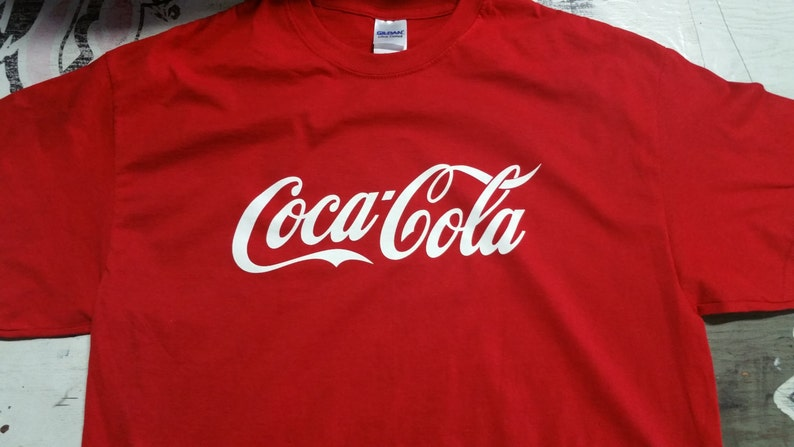 a18b8db78 Coca Cola Coke drink shirt t-shirt tshirt red black white