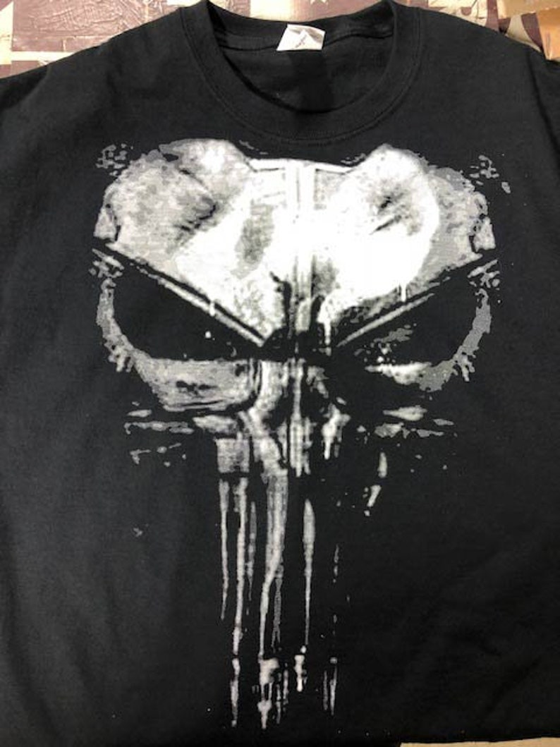 7fb7f8cf20d8d Punisher t shirt skull NEW netflix movie season 1 2 daredevil