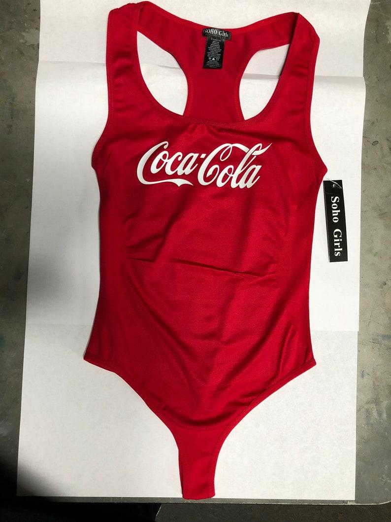 69437d2adb498 Coca Cola coke leotard bodysuit swimsuit lingerie clothing
