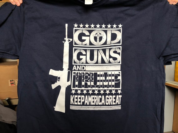 T-shirt Conservative Republican Tee MAGA Trump 2020 2nd Amendment Gun Rights