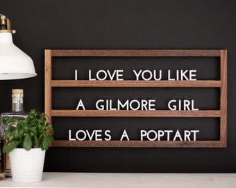 The Muse : Solid Walnut + White Acrylic Floating Letter Board (also available with black acrylic)