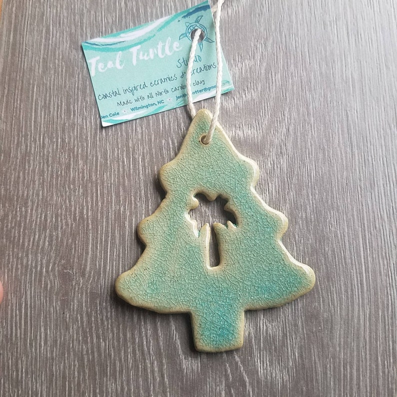 Ceramic Palm Tree Christmas Tree Ornament