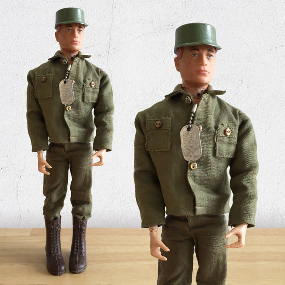 1960s GI Joe Action Figure Talking Army Commander By
