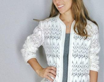 0528a2b7c79d Lace knit sweater