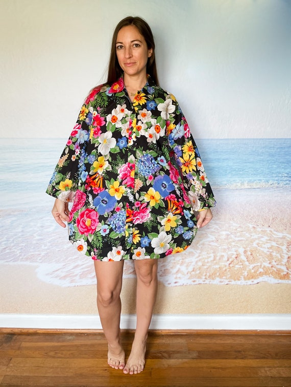 Malia Hawaiian Beach Cover Up Dress Tunic, house … - image 3