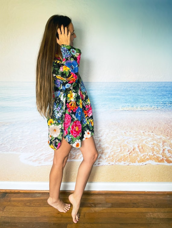 Malia Hawaiian Beach Cover Up Dress Tunic, house … - image 8