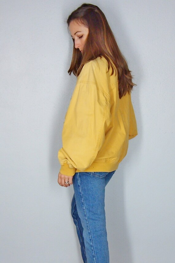 90 s vintage apprêter, chasse corne BCBG jaune moyen, Hipster automne automne Hipster hiver manteau fc7d1a
