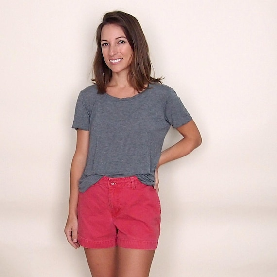 Vintage GAP Shorts Red Cotton // 90s does 70s high