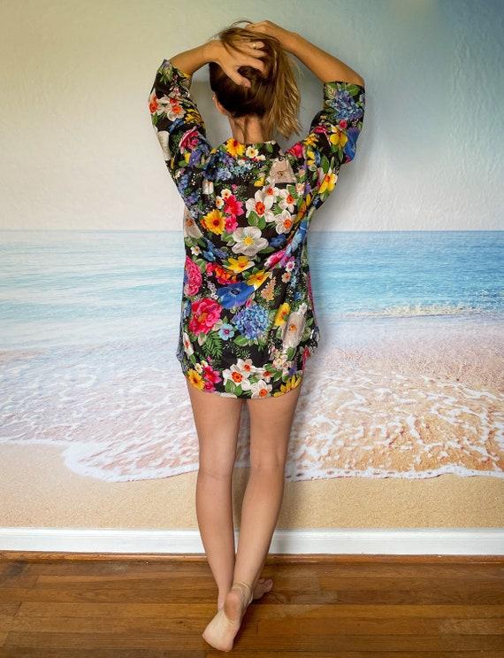 Malia Hawaiian Beach Cover Up Dress Tunic, house … - image 4