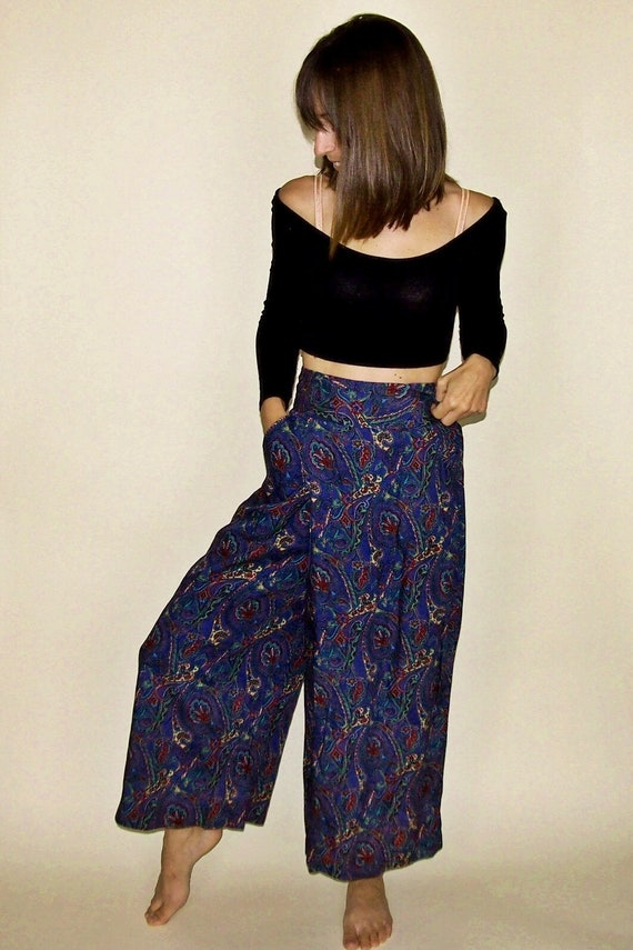 0bbfdc79af6 Vintage Harem Pants Paisley Hippie Pants Gypsy Pants Genie