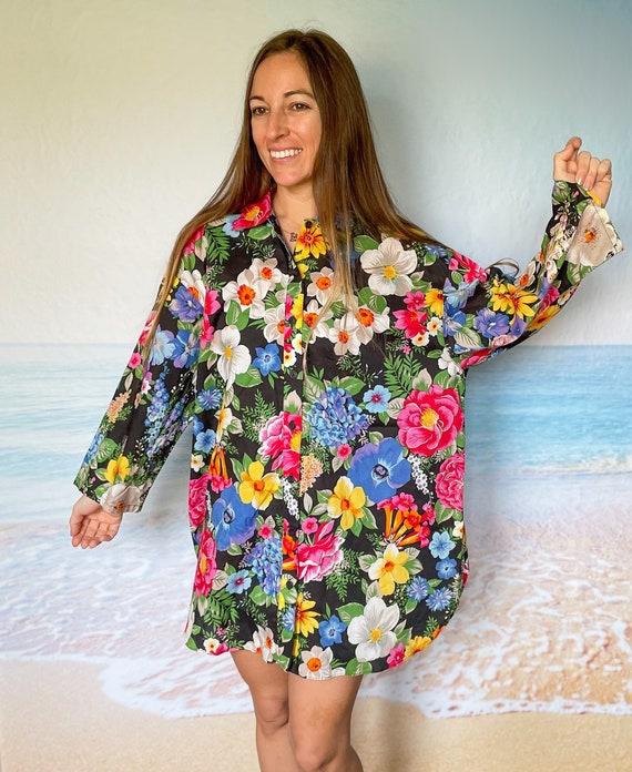 Malia Hawaiian Beach Cover Up Dress Tunic, house … - image 6