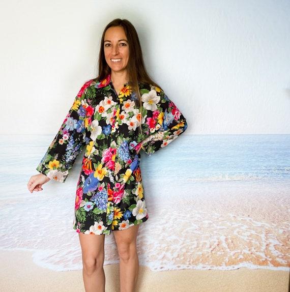 Malia Hawaiian Beach Cover Up Dress Tunic, house … - image 2