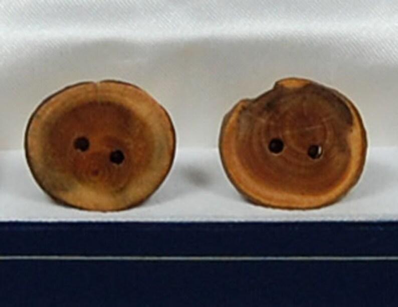Cufflinks:  Canadian Yew image 0