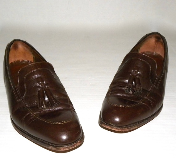 mocassins taille hommes hommes 11 en Imperial D chaussures cuir des robe chaussures pompon Florsheim Brown Vintage TFwtOt