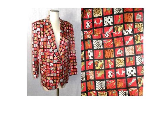Vintage 90s Nicole Miller Silk Blazer | Menswear O