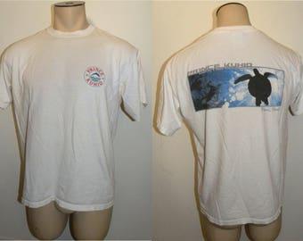 1980s 90s Hawaii T shirt / Vintage Prince Kuhio MAUI / Boat Tour Souvenir Sea Turtle / Vintage size M