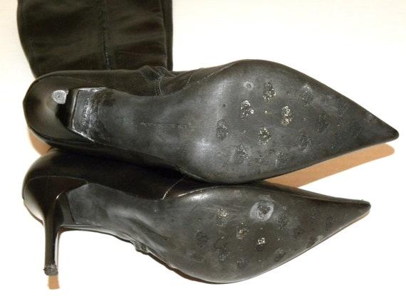 Bottines vintage noir ann des en cuir 6qfw6r