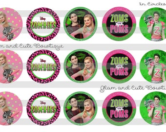 5-8 Zoms Poms cheer hair bow zombies party favors  pink cheer bowaddison cheer bow