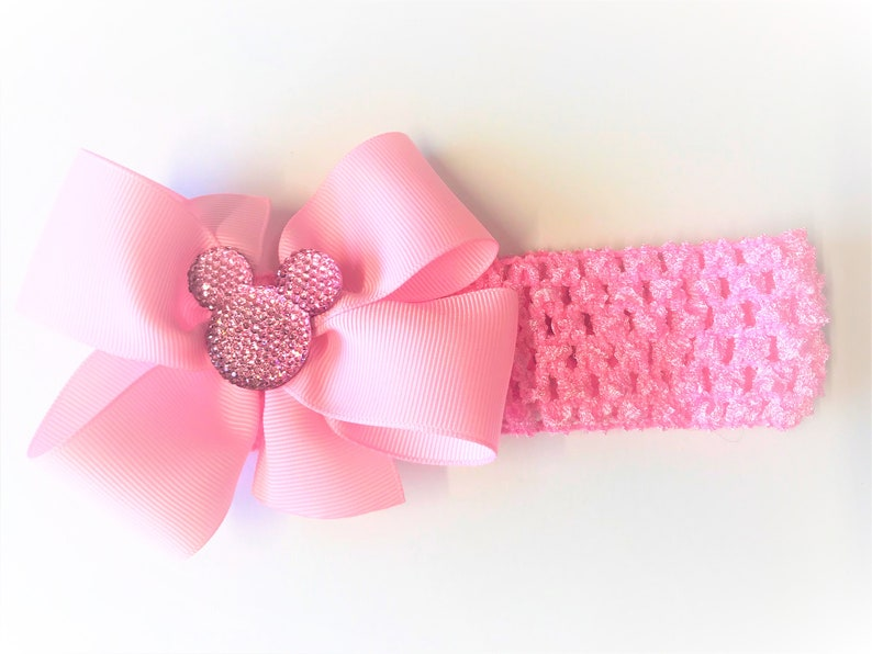 Baby Girl Minnie Mouse Headband Minnie Mouse Hair Bow For Newborn Girl Pink Baby Girl Hair Accessories