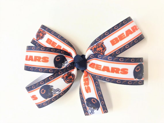Chicago Bears Football Girls Hair Bow