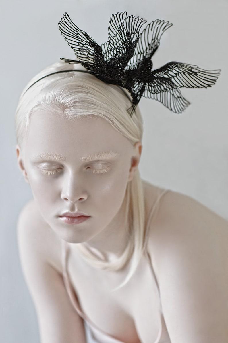Black Birds headpiece Halloween headpiece Festival image 0