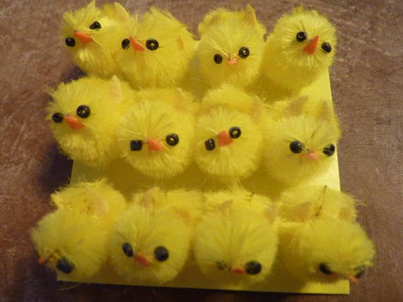 Pack of 20 Yellow Mini Chenille Fluffy Easter Bonnet Arts /& Crafts Chicks